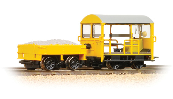 Bachmann - 32-992 - Wicham Trolley Yellow Engineers Livery