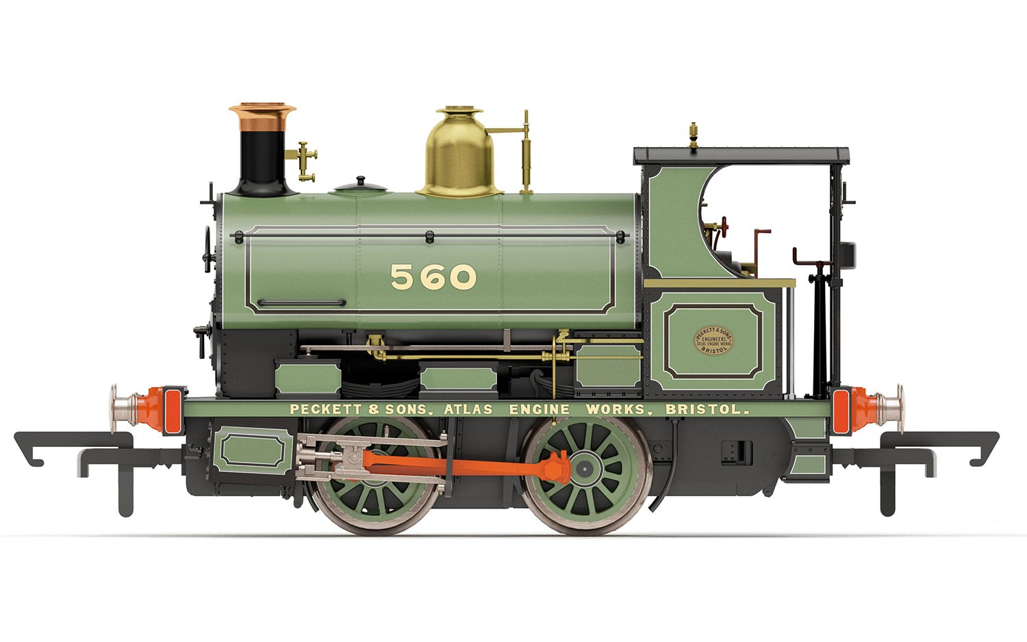 Hornby - R3615 - Peckett Works Livery No.560/1893 0-4-0ST - Era 2