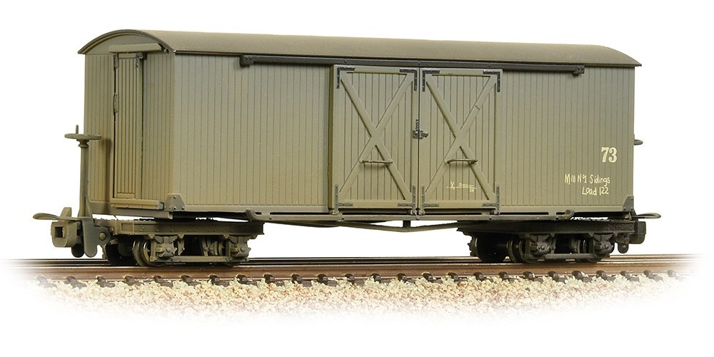 Bachmann - 393-026A - Covered Goods Wagon Nocton Light Grey Weathered