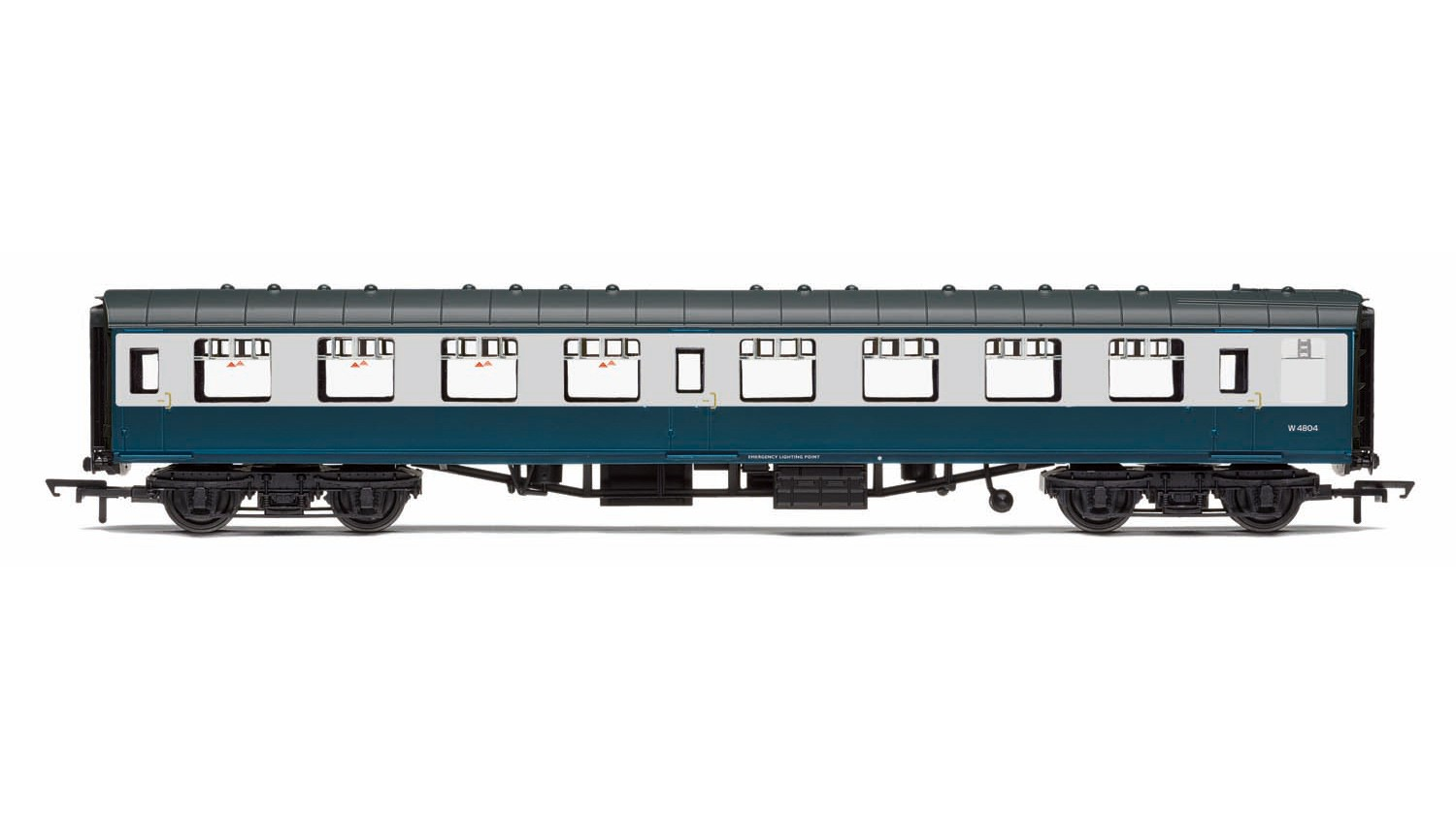 Hornby - R4775 - BR Mk1 Coach Second Open 'W4804', Blue & Grey Livery